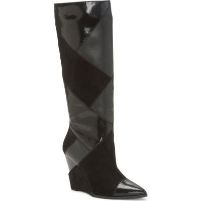 Jessica Simpson Henlee Knee High Wedge Boot- Black