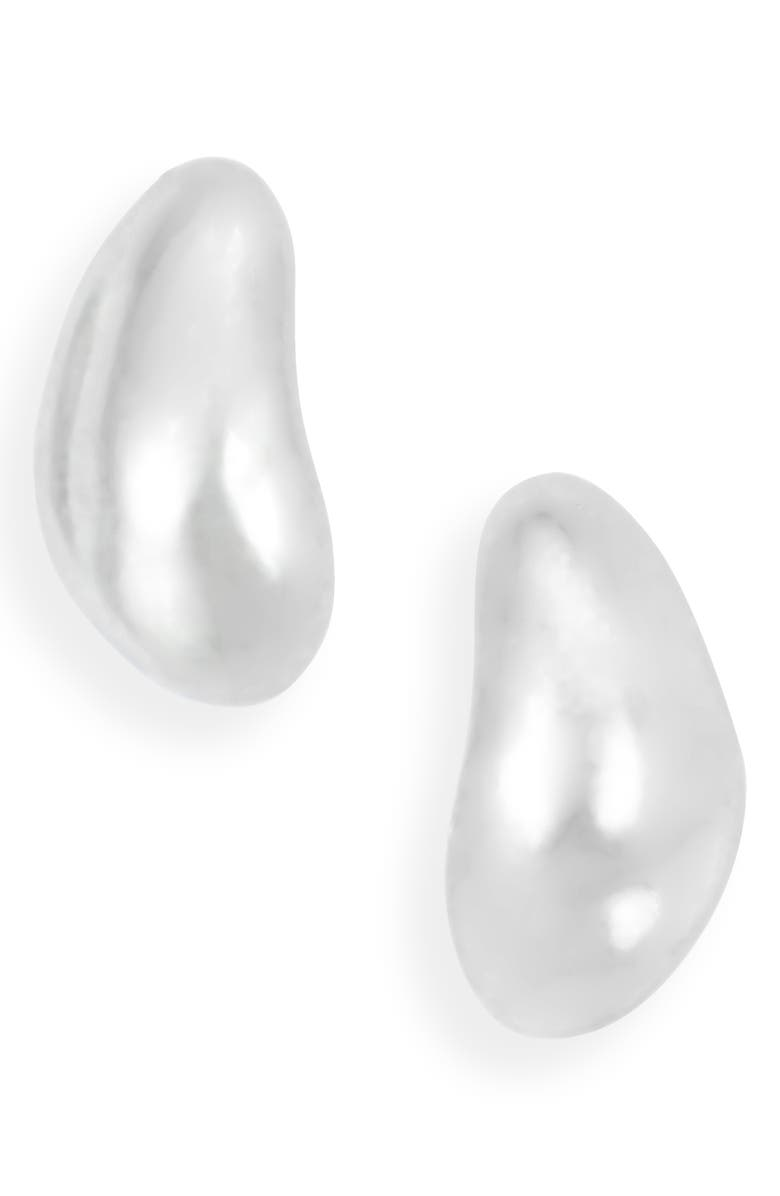 SOPHIE BUHAI Small Sterling Silver Oyster Earrings, Main, color, STERLING SILVER