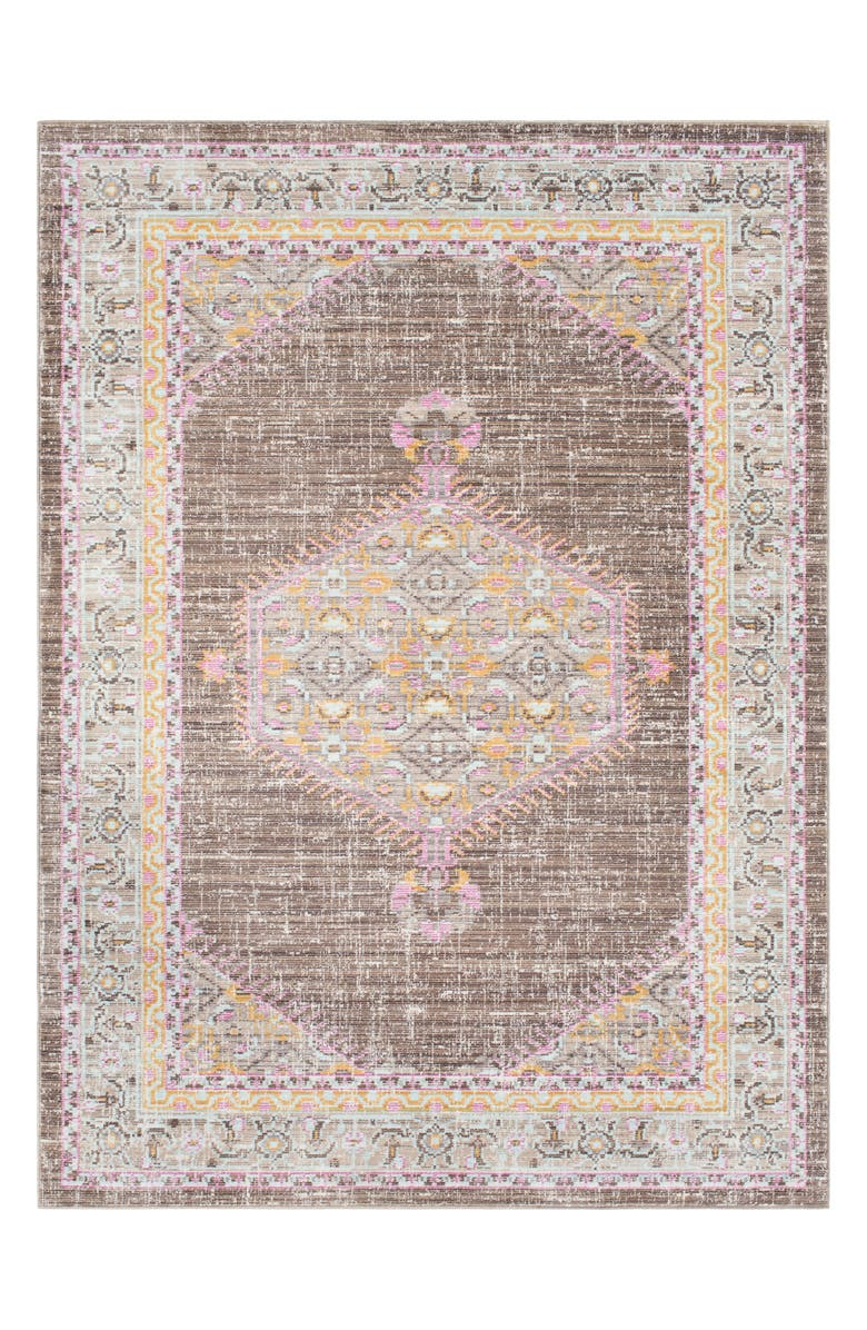 SURYA HOME Germili Medallion Area Rug, Main, color, TAUPE