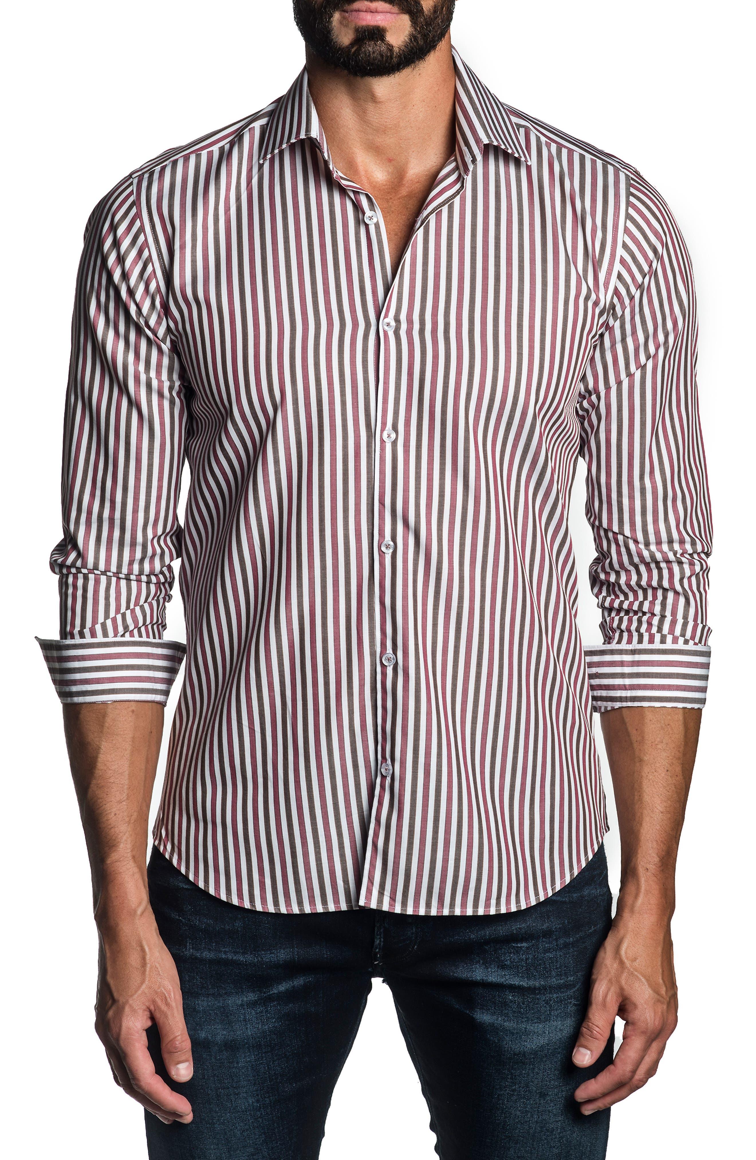 Regular Fit Stripe Button-Up Shirt