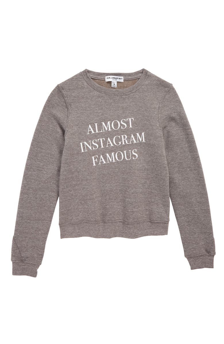 SUB_URBAN RIOT Almost Instagram Famous Pullover, Main, color, 050