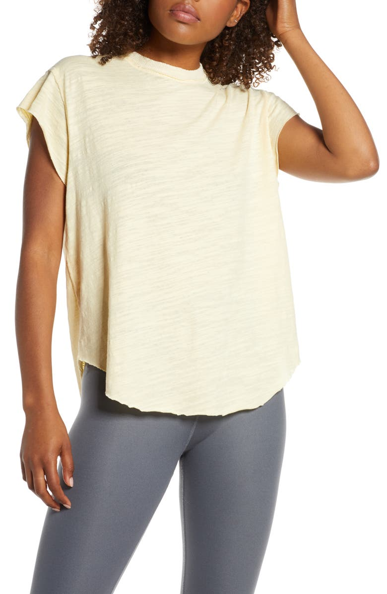 FREE PEOPLE FP MOVEMENT Take a Hike Tee, Main, color, YELLOW