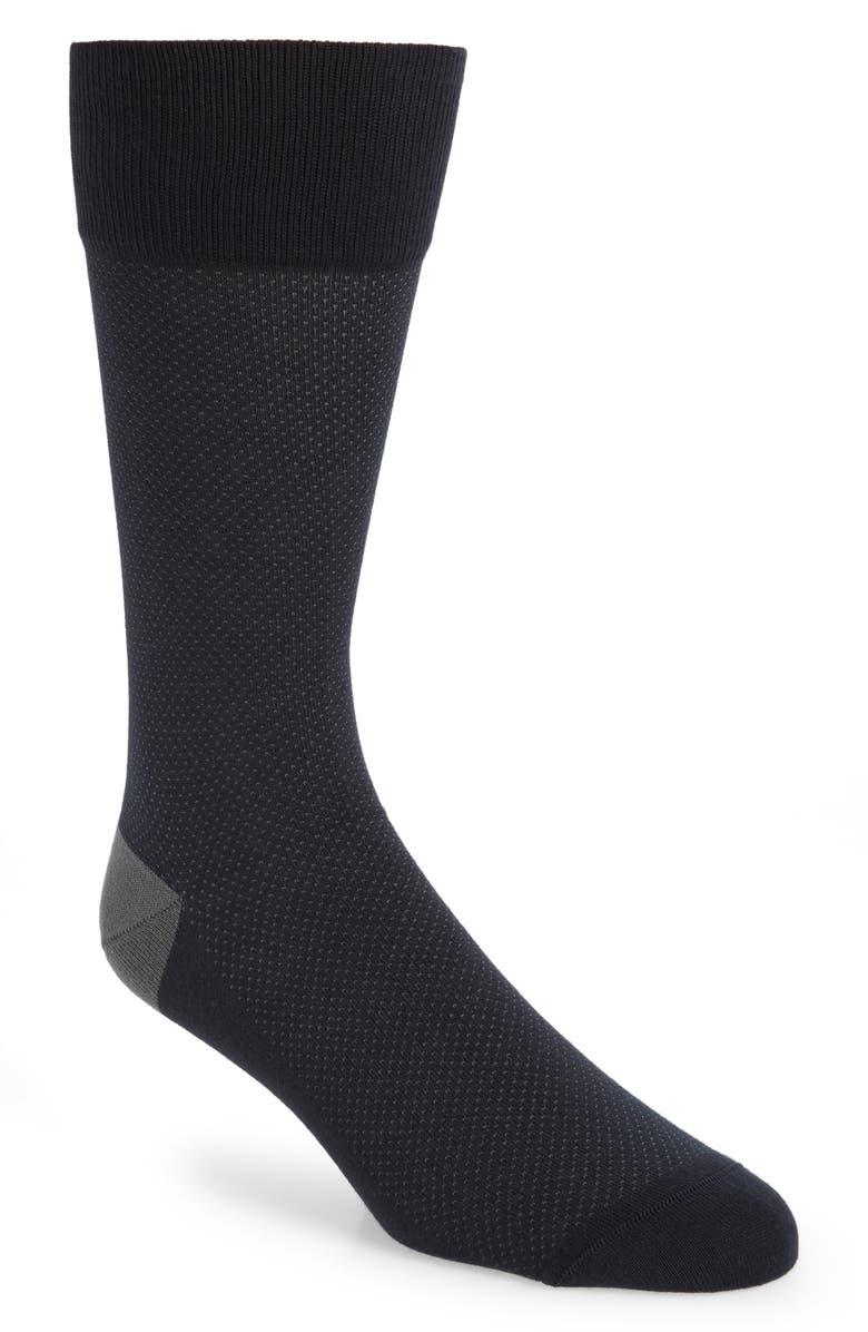 NORDSTROM SIGNATURE Bird's Eye Pima Cotton Blend Socks, Main, color, 410