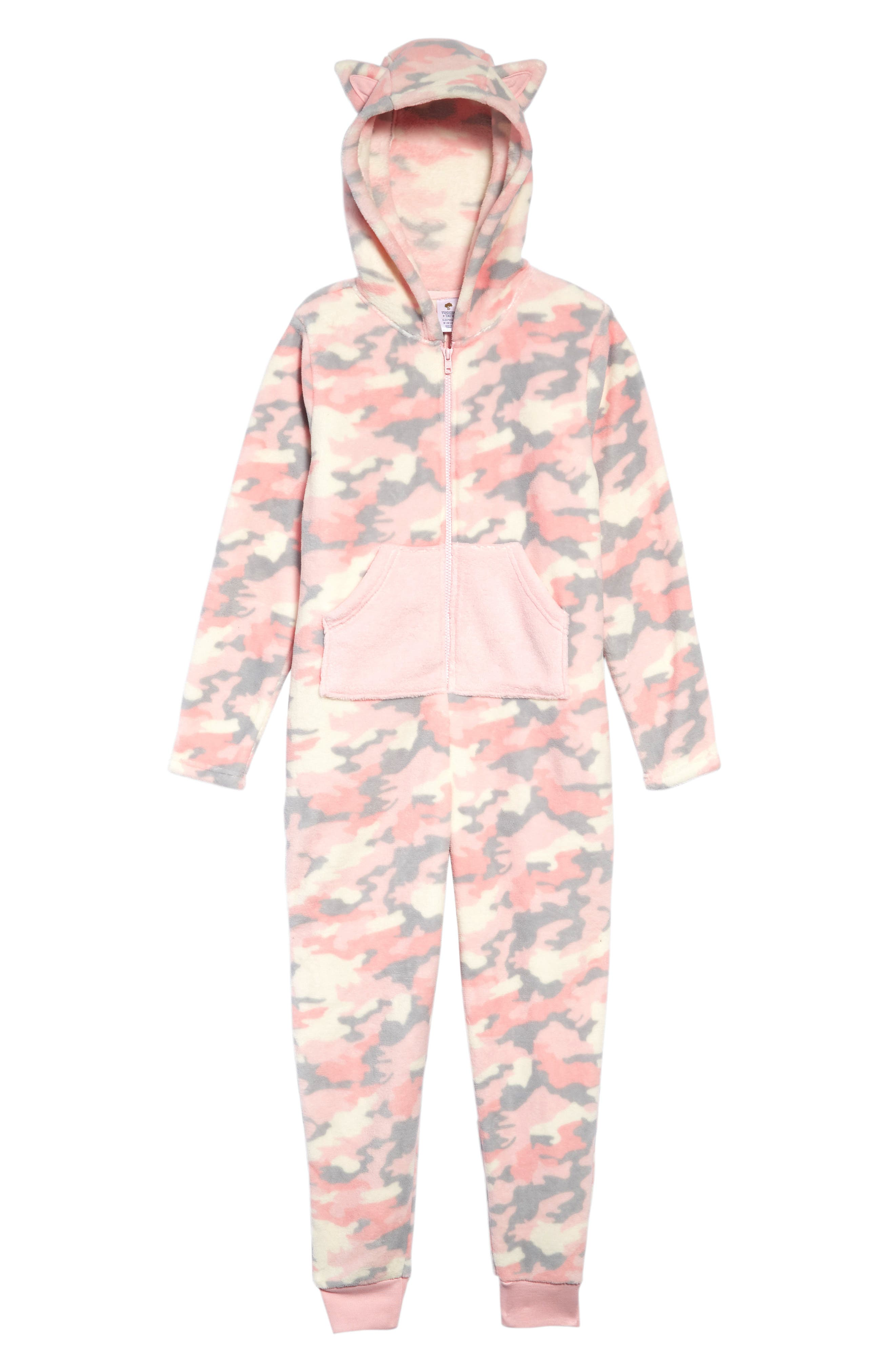 Girls Tucker  Tate Cat Ear OnePiece Pajamas Size L (1012)  Pink
