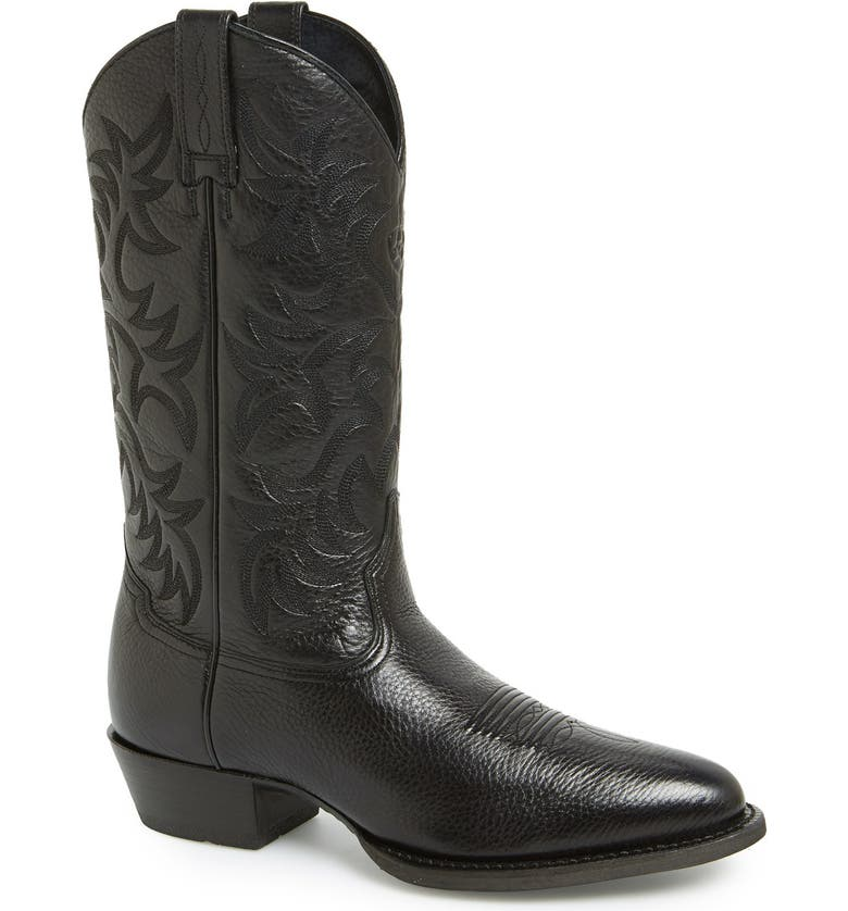 ARIAT 'Heritage' Leather Cowboy R-Toe Boot, Main, color, 001