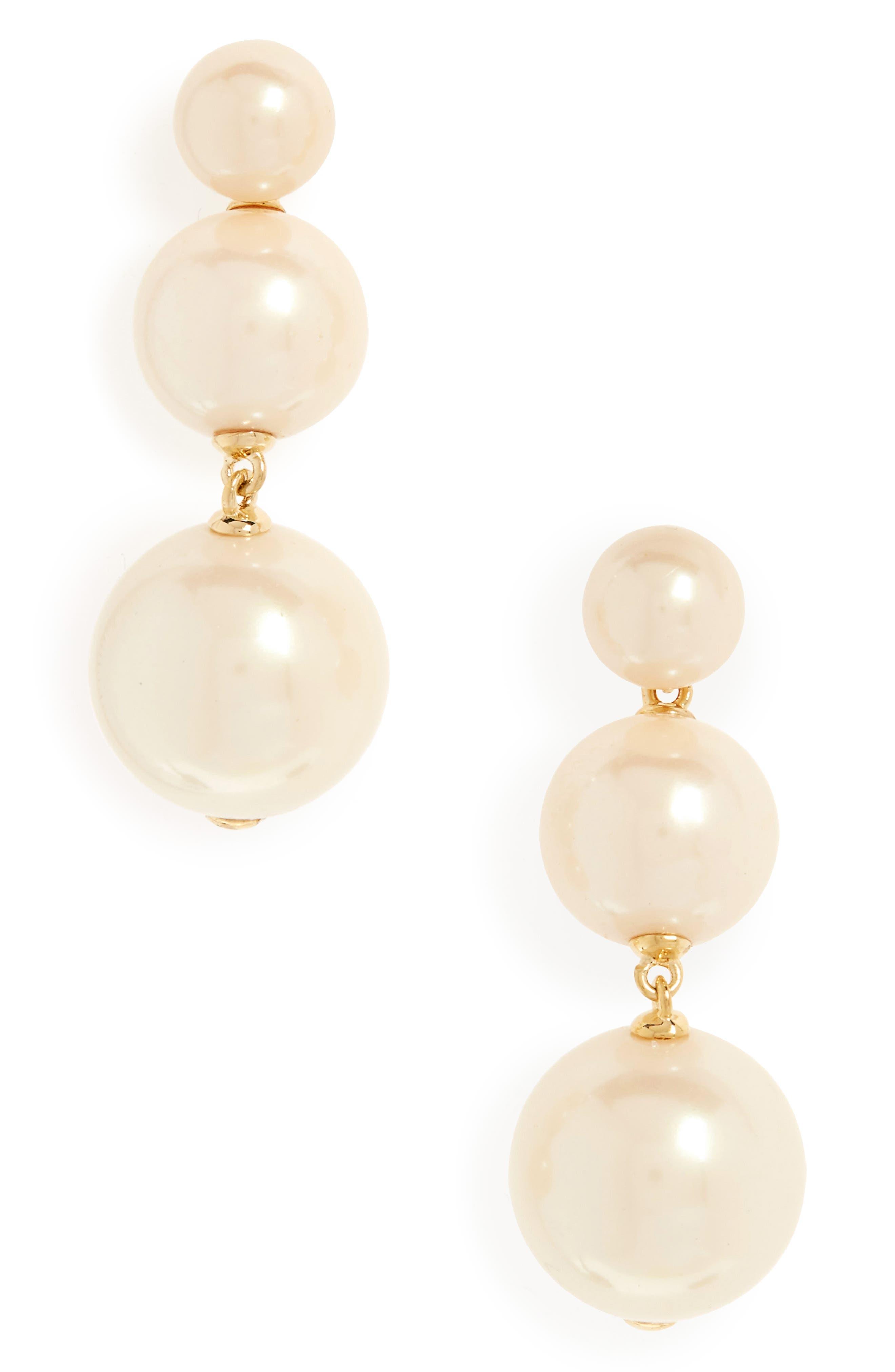 golden girl bauble drop earrings, Main, color, 143