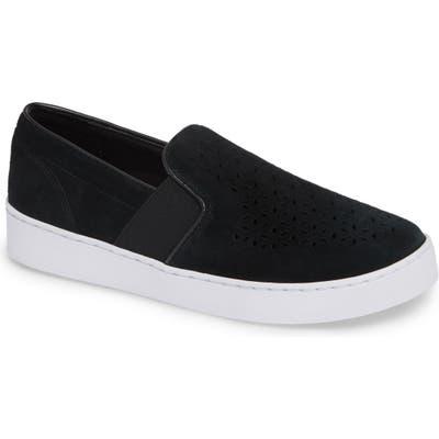 Vionic Kani Perforated Slip-On Sneaker- Black
