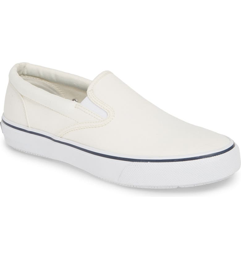 SPERRY Top-Sider<sup>®</sup> 'Striper' Slip-On, Main, color, WHITE