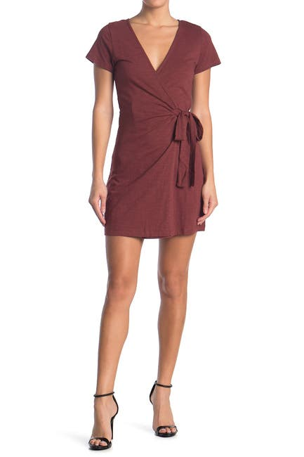 Image of Sanctuary Short Sleeve Knit Wrap Dress