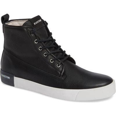 Blackstone Qm80 High Top Sneaker, US / 47EU - Black
