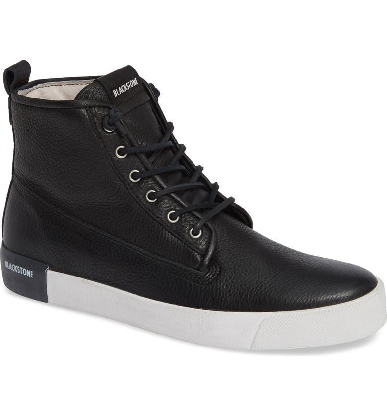 BLACKSTONE QM80 High Top Sneaker, Main, color, BLACK