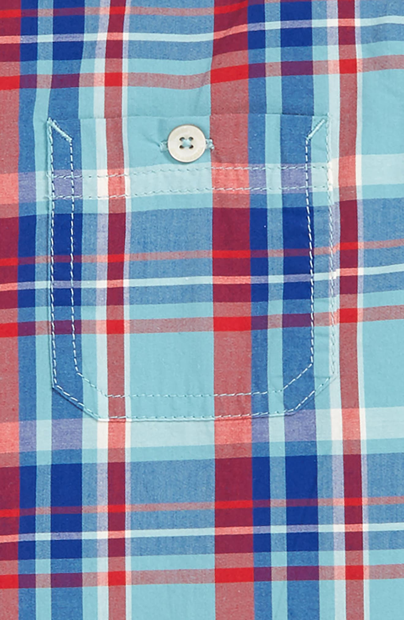 ,                             'Photo' Buffalo Plaid Woven Shirt,                             Alternate thumbnail 4, color,                             440