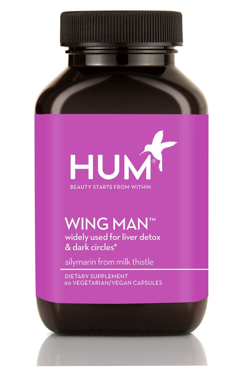 HUM NUTRITION Wing Man<sup>™</sup> Liver Detox & Dark Circle Remedy Dietary Supplement Capsules, Main, color, 000