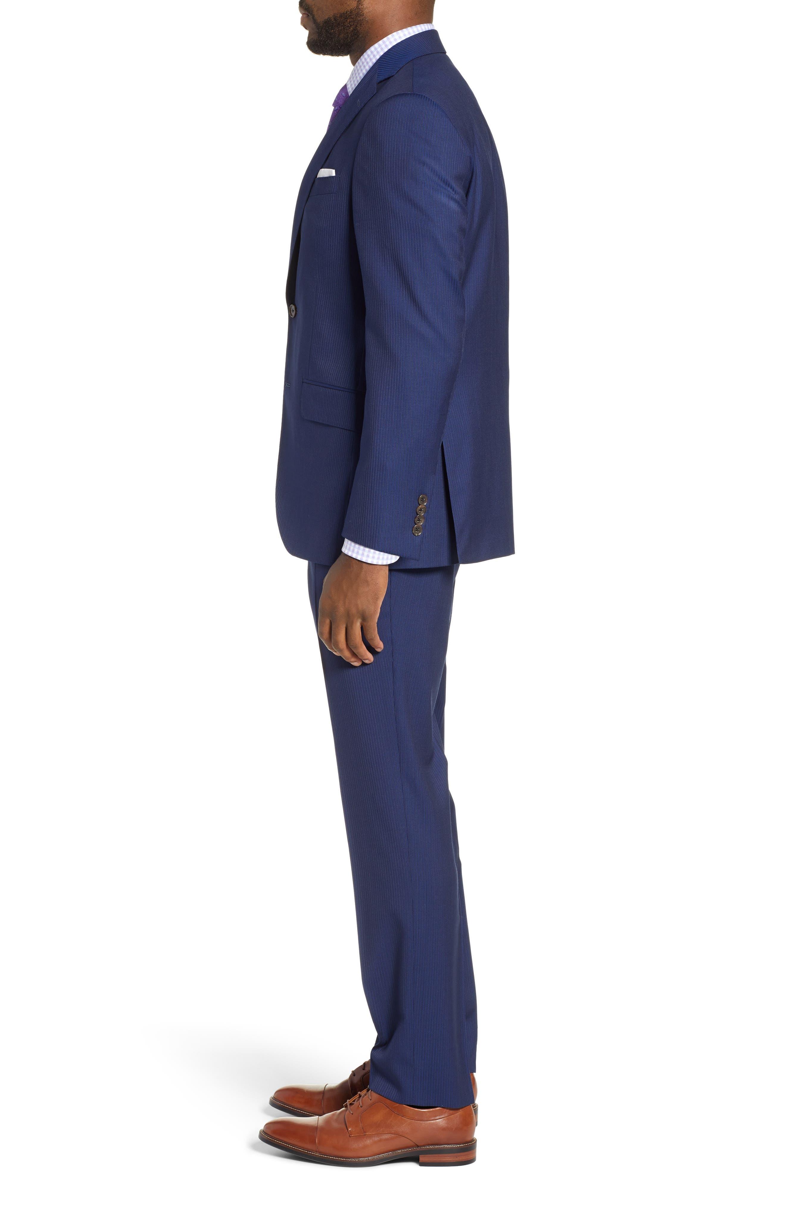 ,                             Ryan Classic Fit Stripe Wool Suit,                             Alternate thumbnail 3, color,                             410