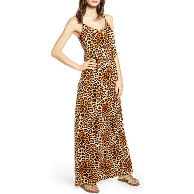 All In Favor Knit Maxi Dress, Brown