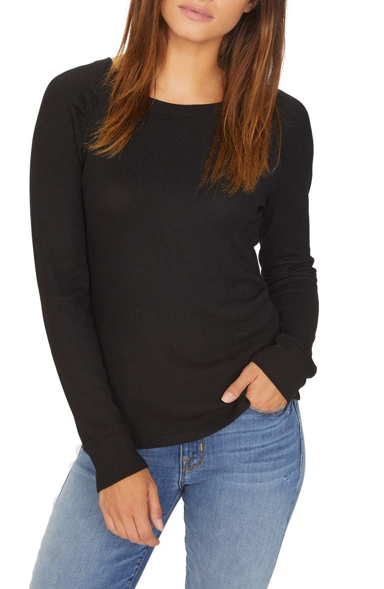 SANCTUARY Kenzie Thermal Pullover, Main, color, 001