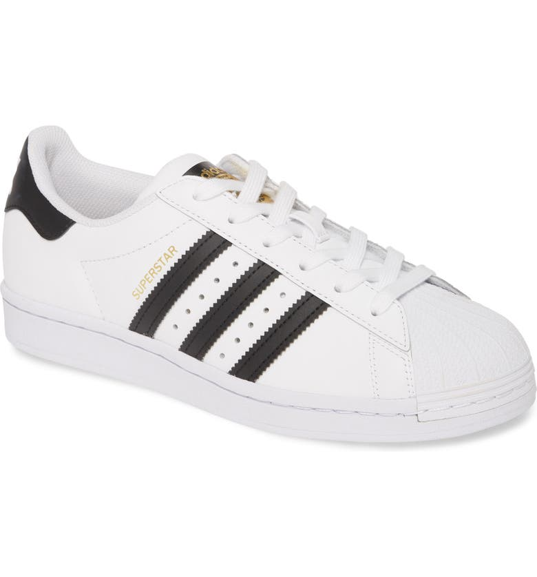 ADIDAS Superstar Sneaker, Main, color, WHITE/ CORE BLACK/ WHITE