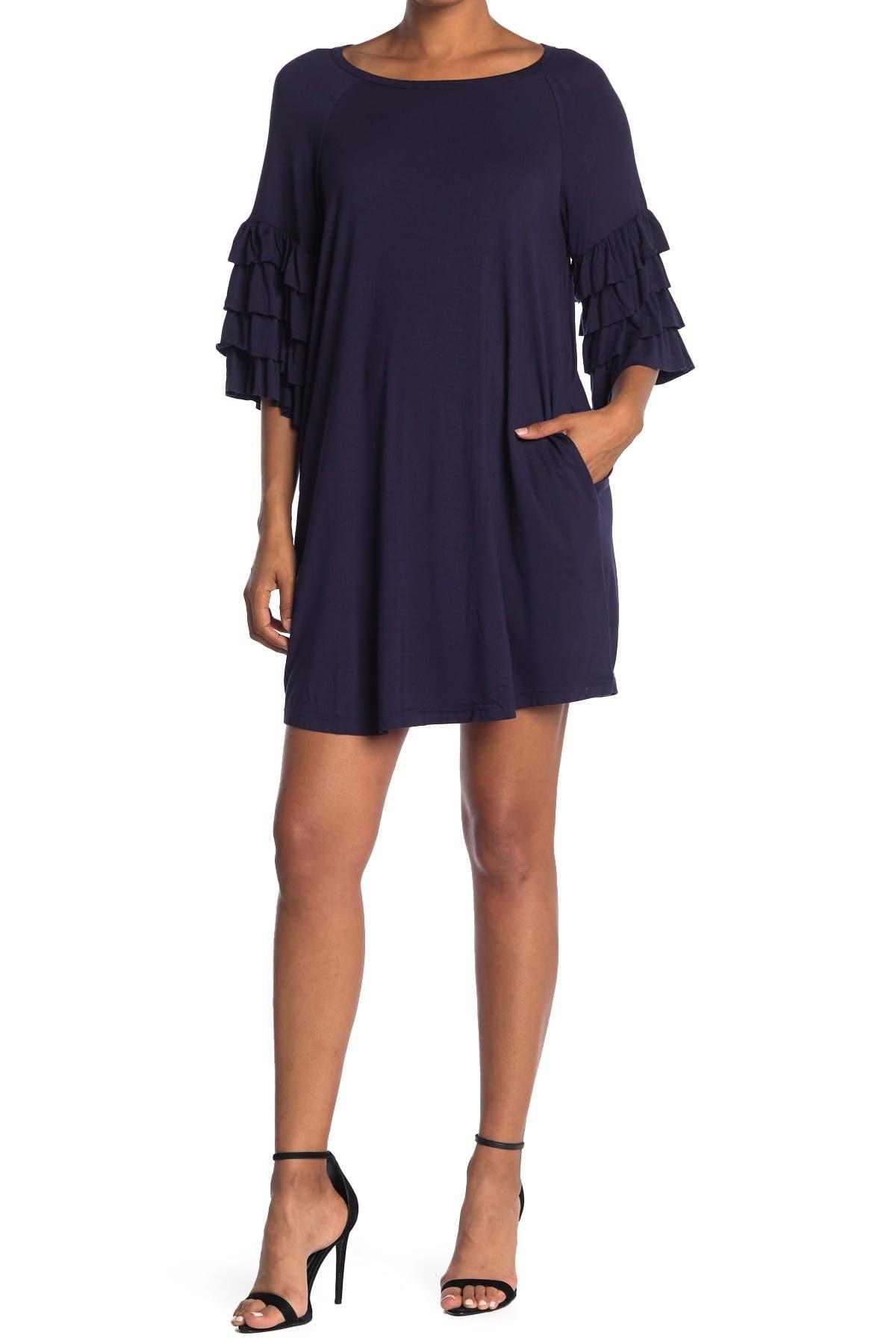 Image of HYFVE Tiered Sleeve Mini Dress
