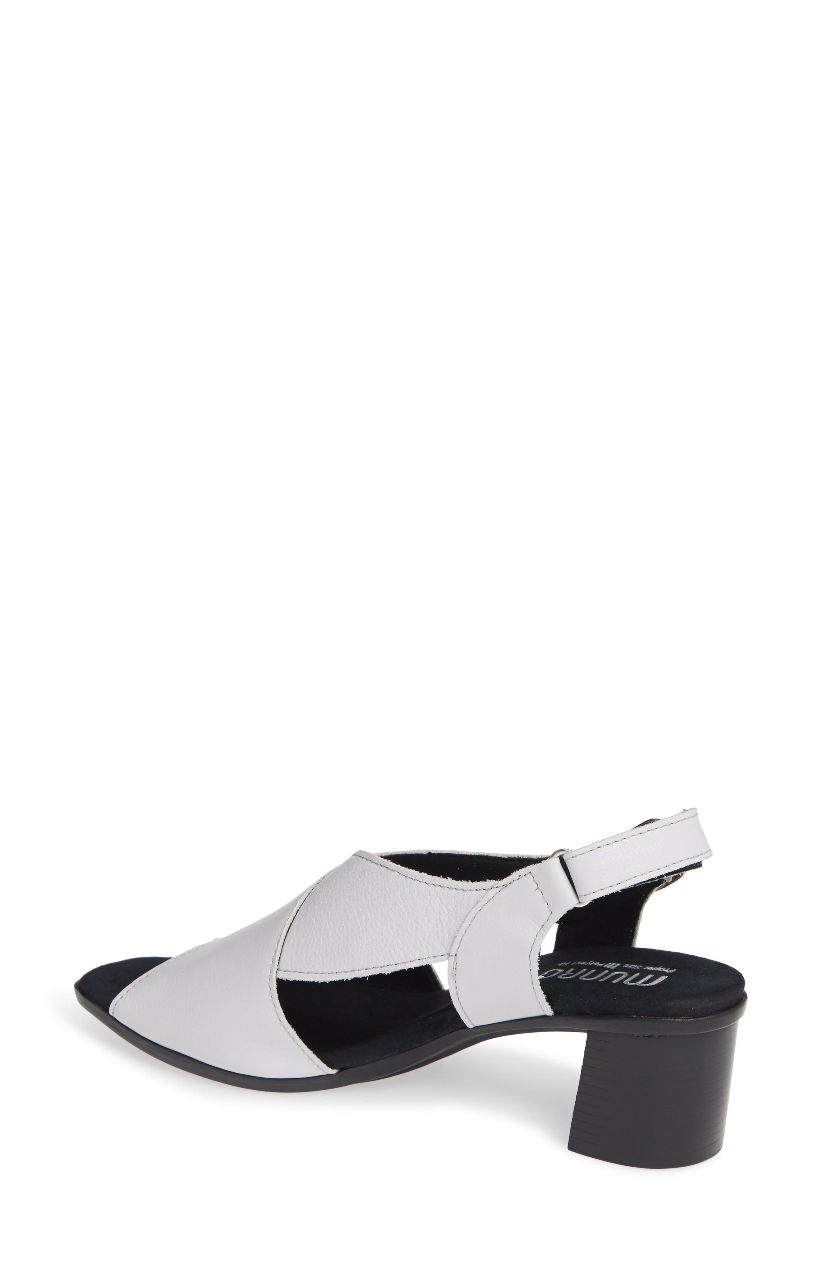 ,                             Laine Block Heel Sandal,                             Alternate thumbnail 2, color,                             WHITE LEATHER