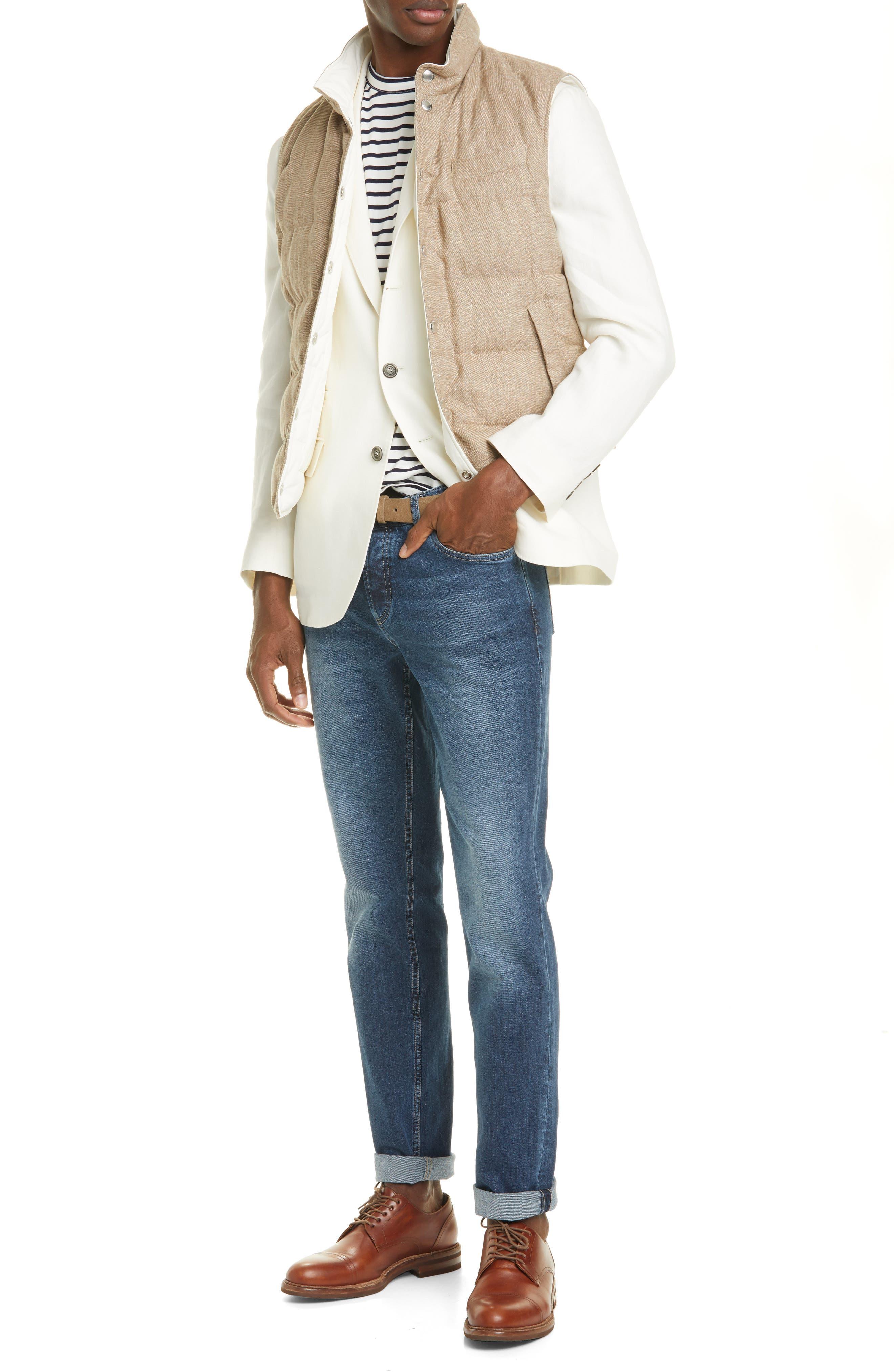 Men's Brunello Cucinelli Stretch Cotton Jeans,  52 EU - Blue