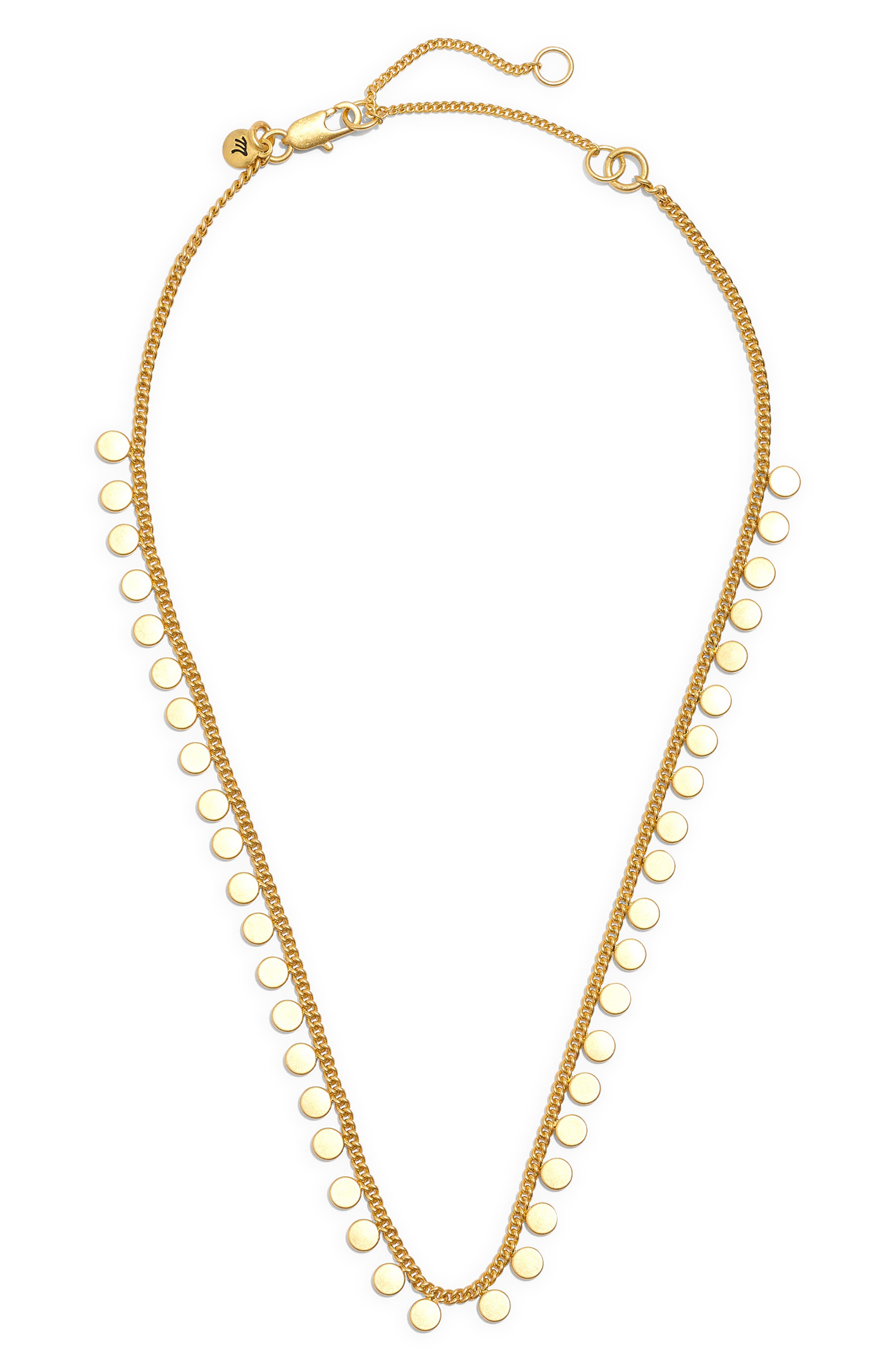 A chain necklace dotted with, well, dots is at a just-right choker length that layers well everything. Style Name: Madewell Connect-The-Dots Choker Necklace. Style Number: 5817802. Available in stores.