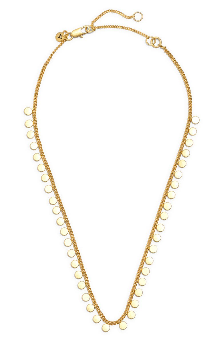 MADEWELL Connect-the-Dots Choker Necklace, Main, color, VINTAGE GOLD