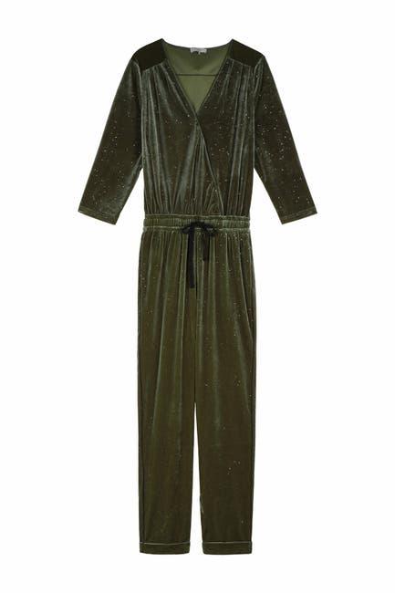Image of FRNCH Glitter Velvet Wrap Jumpsuit