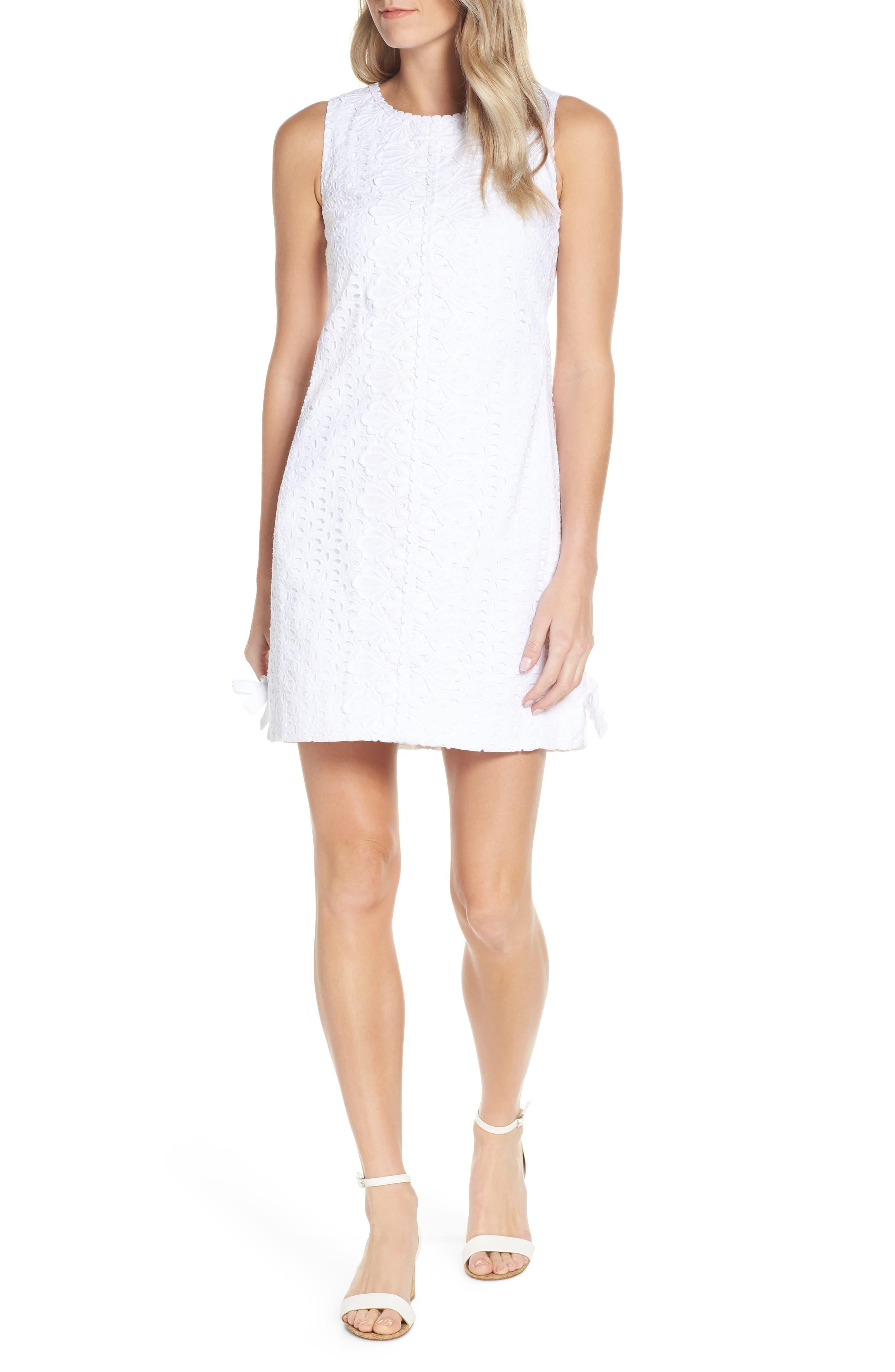 Lilly Pulitzer Melani Lace Shift Dress, White