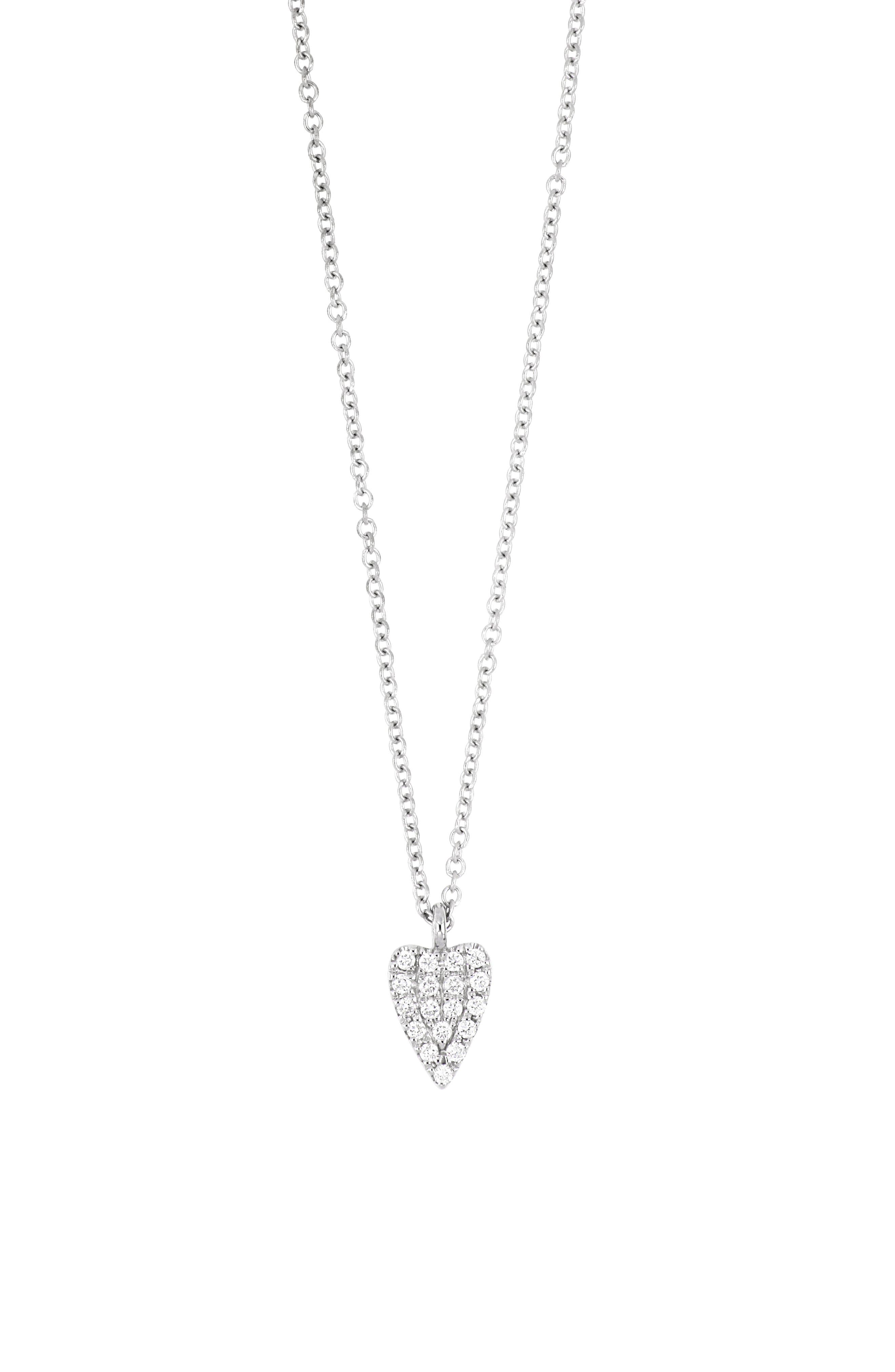 This classic necklace in 18-karat gold makes a sweet statement with an elongated heart encrusted in sparkly diamond pave. Style Name: Bony Levy Icons Large Heart Pendant Necklace (Nordstrom Exclusive). Style Number: 6108305. Available in stores.