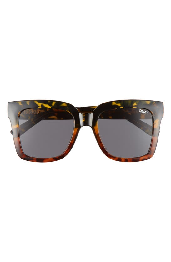 Quay Icy 58mm Ombre Sunglasses In Tort Fade/ Smoke