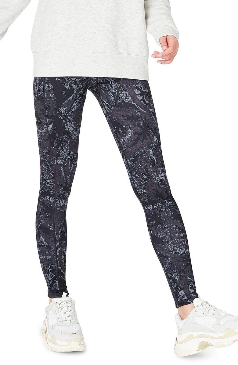 8e263ca3ae51d1 Reversible Yoga Leggings, Main, color, TONAL BEGONIA PRINT