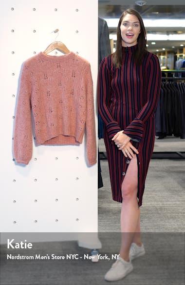 Lihui Pointelle Detail Balloon Sleeve Wool & Alpaca Sweater, sales video thumbnail