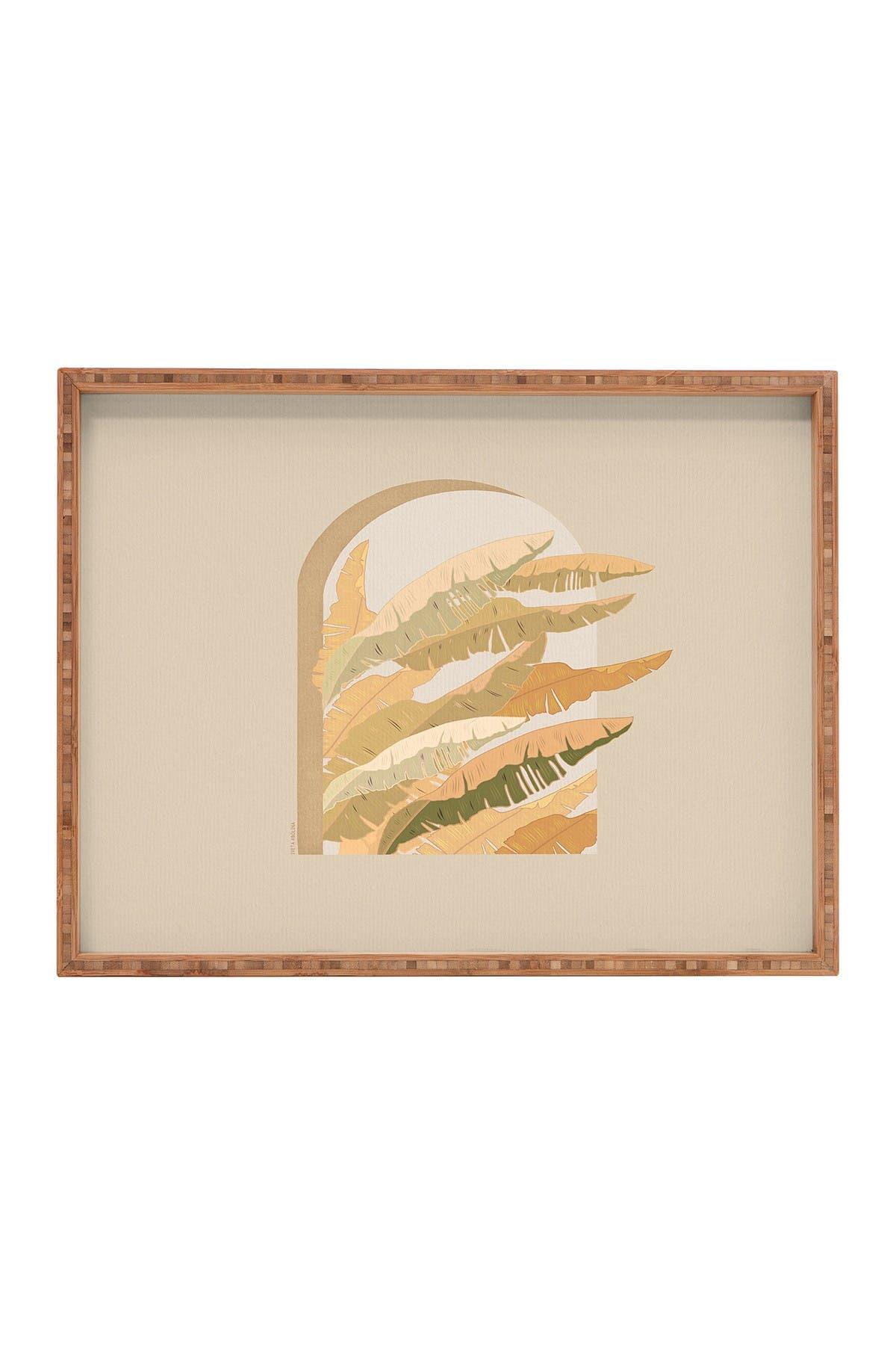 Image of Deny Designs Iveta Abolina Sorrento Sunset Rectangular Bamboo Tray