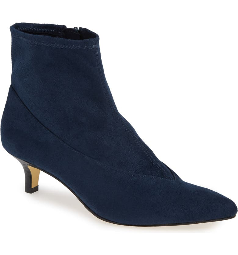 BELLA VITA Stephanie II Stretch Bootie, Main, color, NAVY FAUX SUEDE
