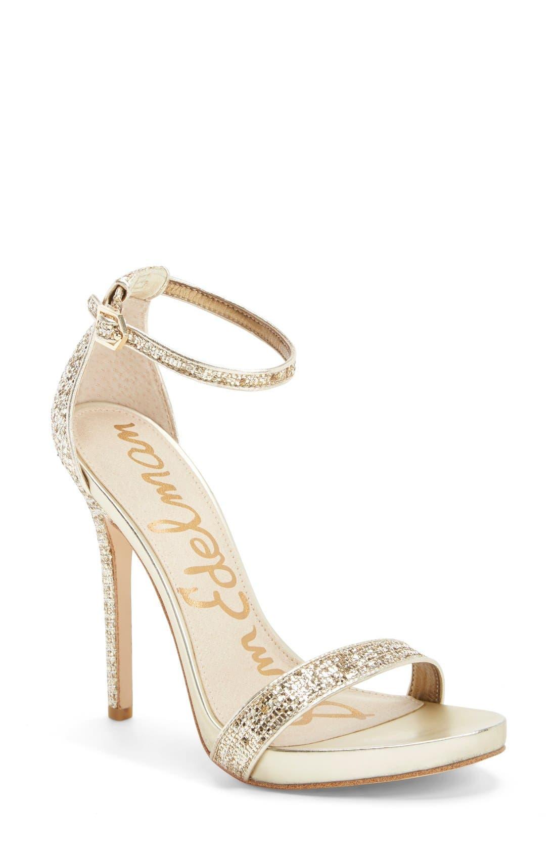 ,                             'Eleanor' Ankle Strap Sandal,                             Main thumbnail 121, color,                             710