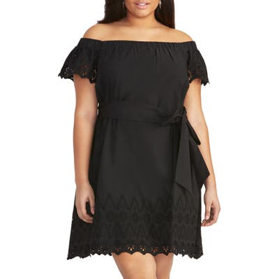 Plus Size Rachel Rachel Roy Ilenia Off The Shoulder Sundress, Black