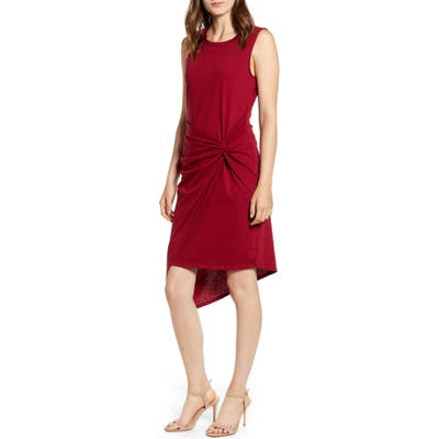 Chelsea28 Twist Front Dress, Red