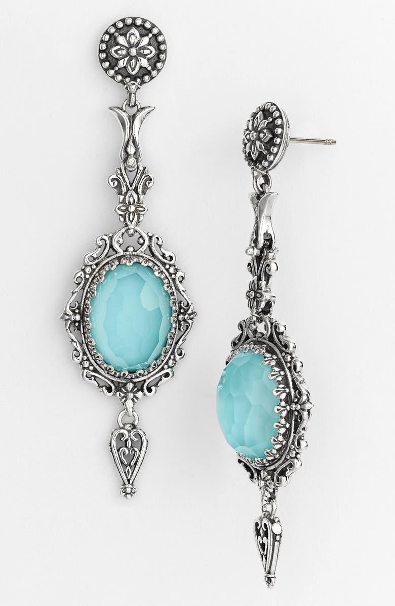KONSTANTINO 'Aegean' Drop Earrings, Main, color, SILVER/ TURQUOISE