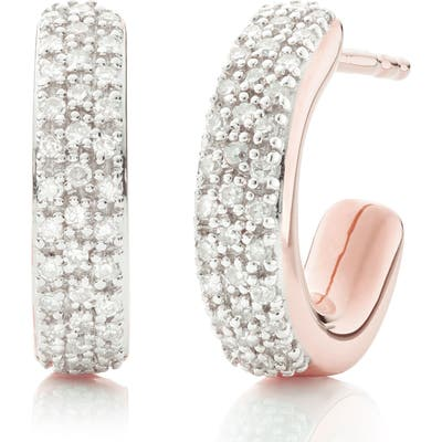Monica Vinader Fiji Mini Diamond Hoop Earrings