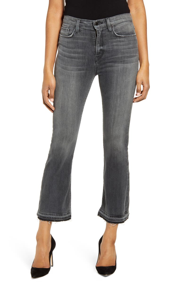 HUDSON JEANS Holly Release Hem Ankle Flare Jeans, Main, color, DARK WAVES