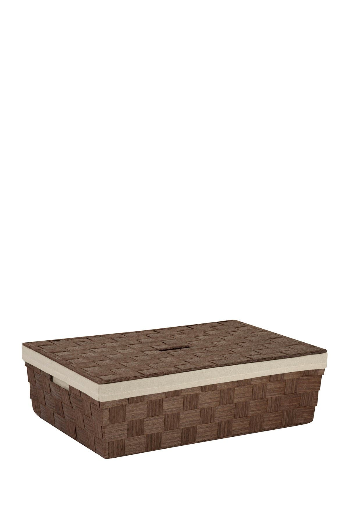 Image of Honey-Can-Do Underbed Brown Paper Rope Basket with Liner