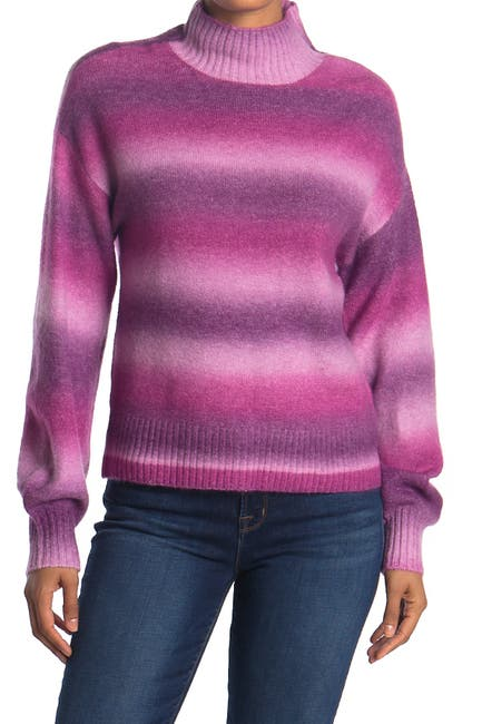 Image of Love by Design Ombre Stripe Print Turtleneck Sweater