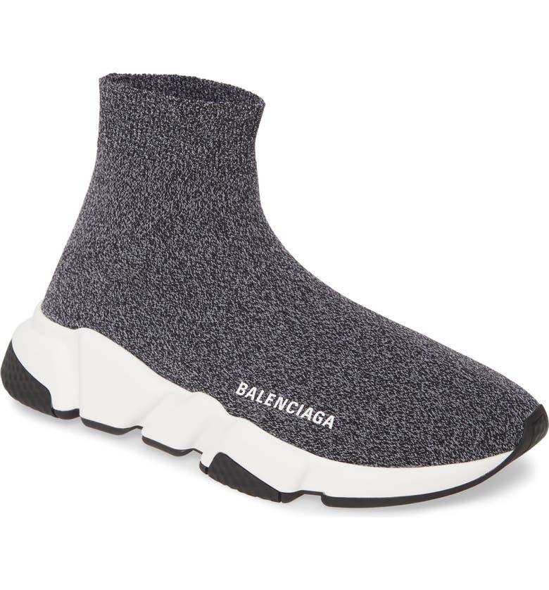 BALENCIAGA Speed Mid Sneaker, Main, color, BLACK/ PINK