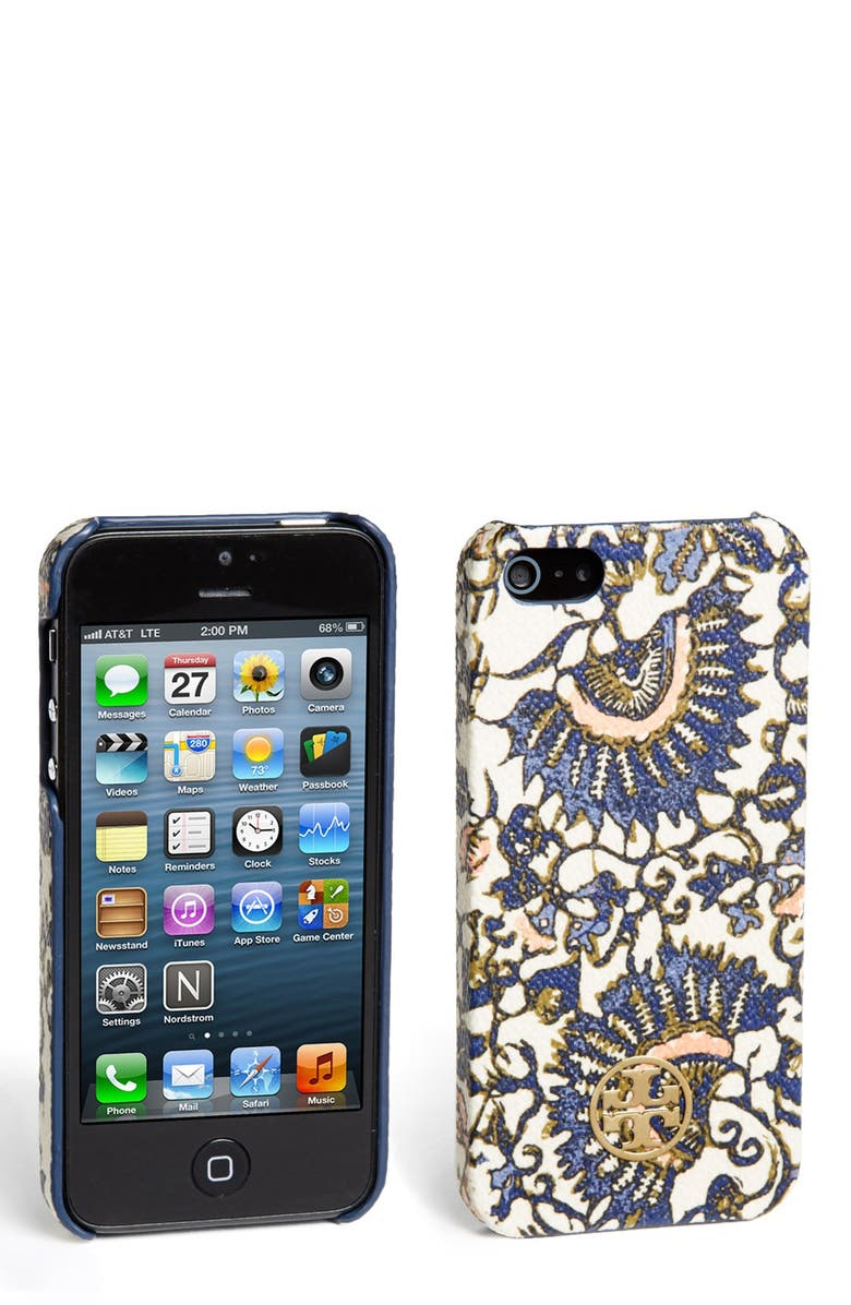 TORY BURCH 'Kerrington' Hard Shell iPhone 5 & 5s case, Main, color, 255
