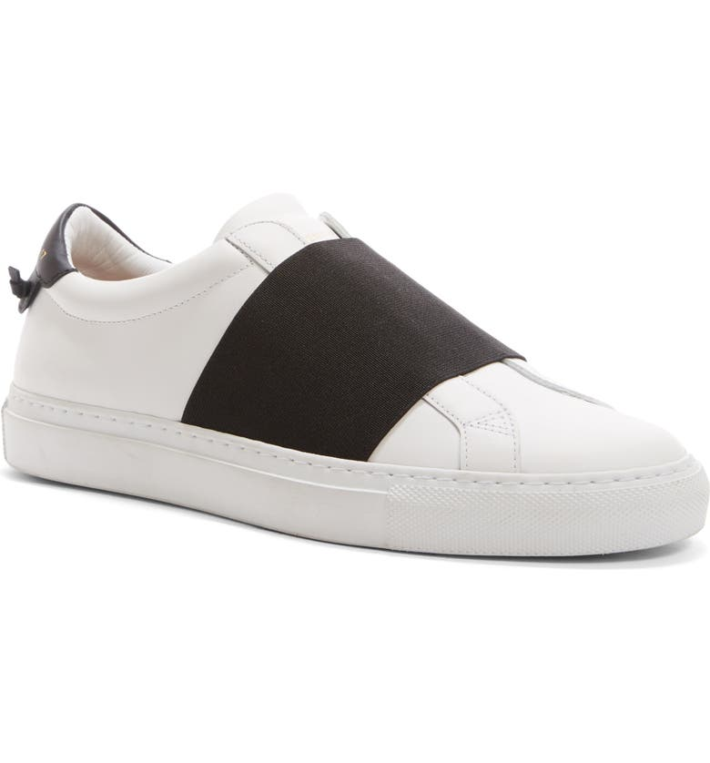 GIVENCHY Low Top Slip-On Sneaker, Main, color, WHITE/ BLACK