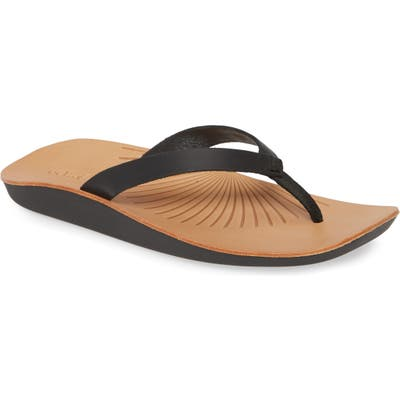Olukai Iwi Flip Flop, Black