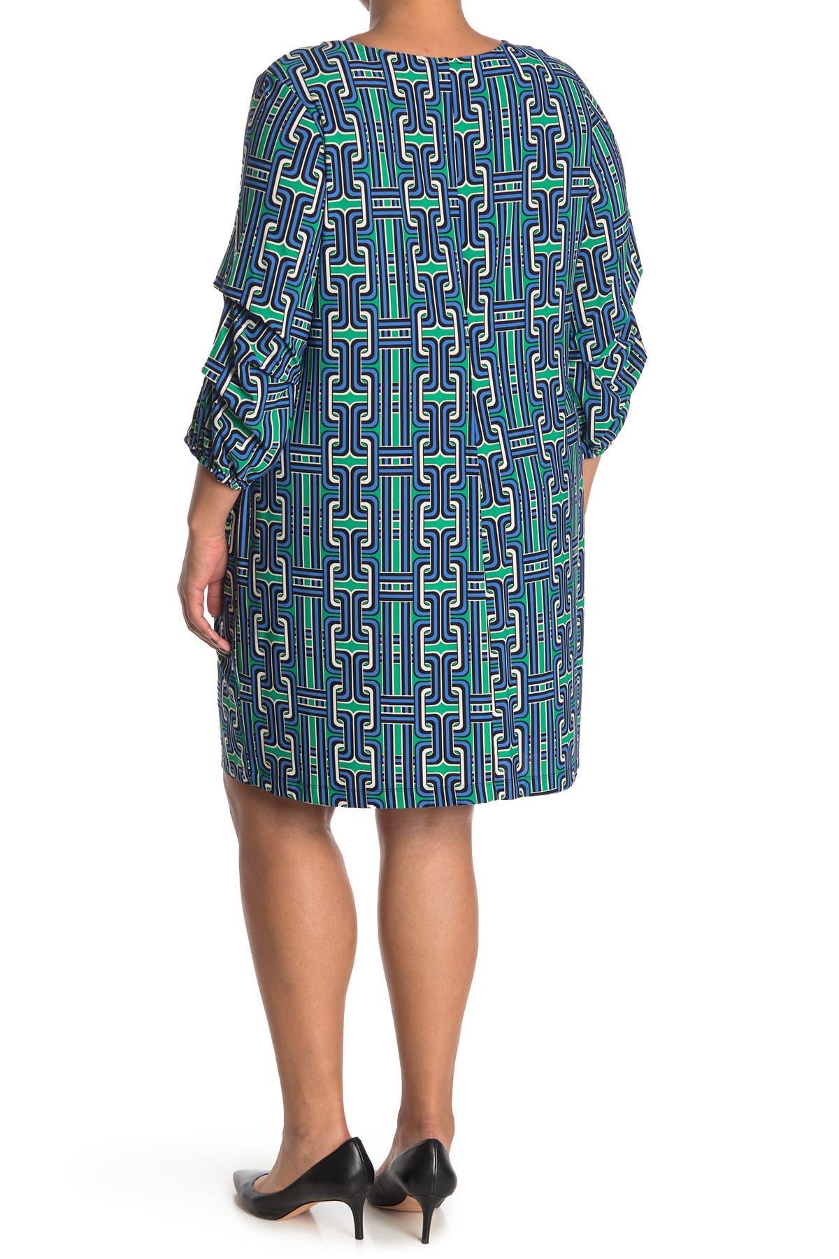 Image of TASH + SOPHIE Gathered Sleeve Shift Dress