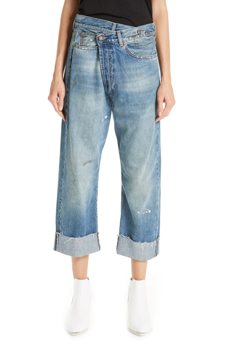 R13 Crossover Jeans, Main, color, JASPER