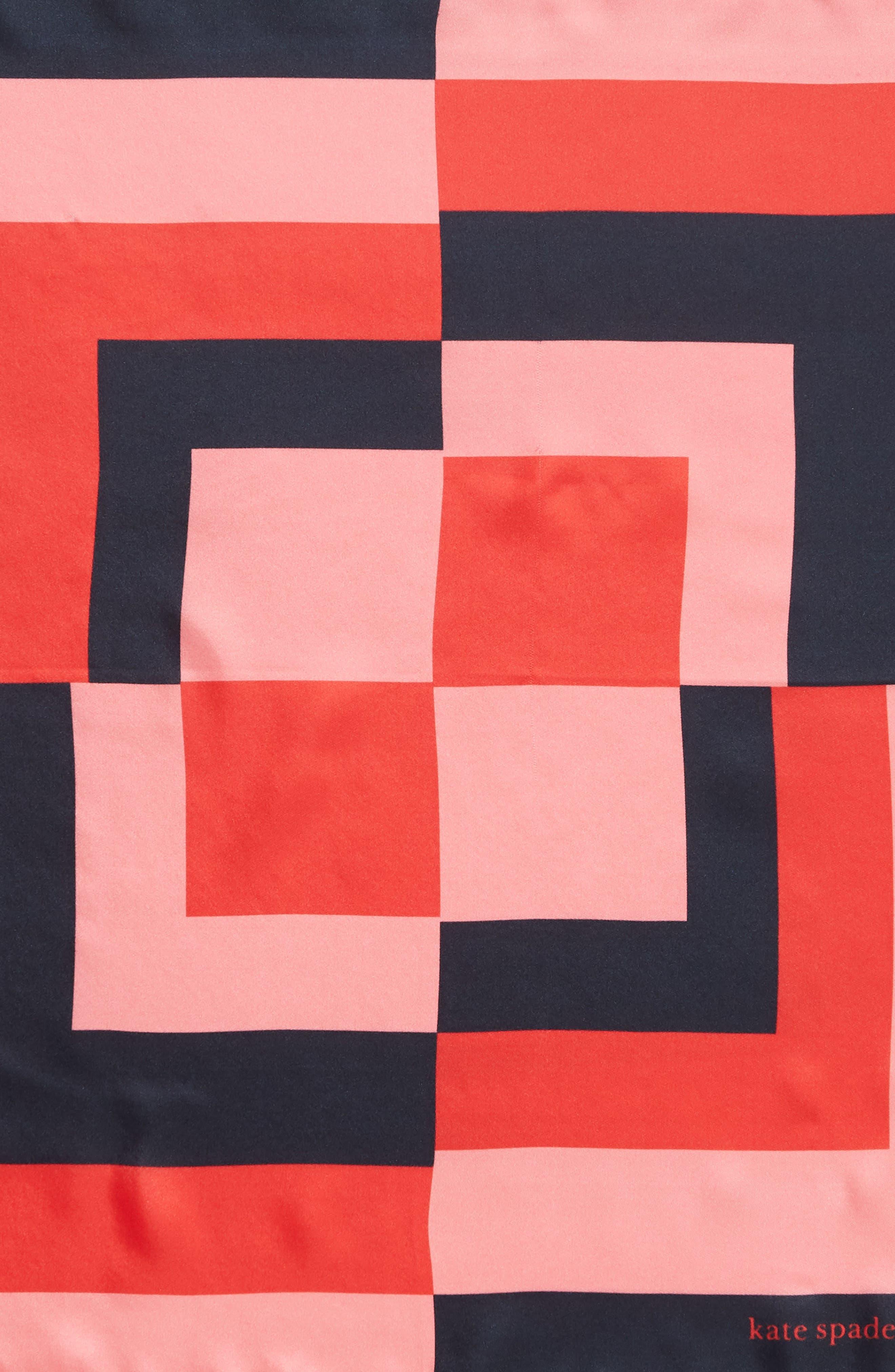 ,                             colorblock silk scarf,                             Alternate thumbnail 4, color,                             PARISIAN NAVY