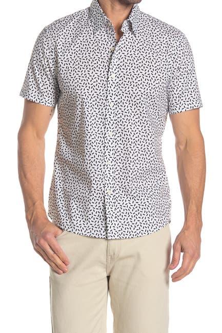 Image of Michael Kors Short Sleeve Tic Tac Print Shirt